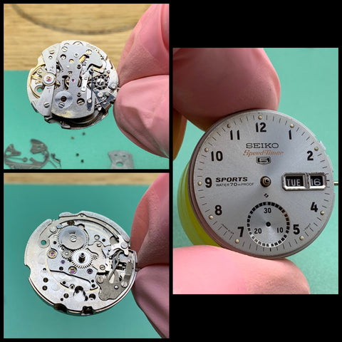 Servicing a Seiko 6139-7010 Speed-Timer Chronograph from 1970 - battling corrosion and chemicals