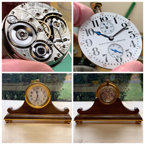 Servicing a rare and unusual 120 year old 18S Elgin B. W. Raymond pocket watch with up/down indicator