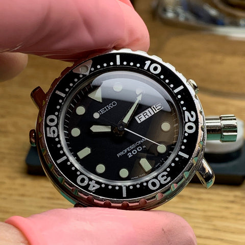 Servicing a Seiko 7c43-6020 Mini Tuna