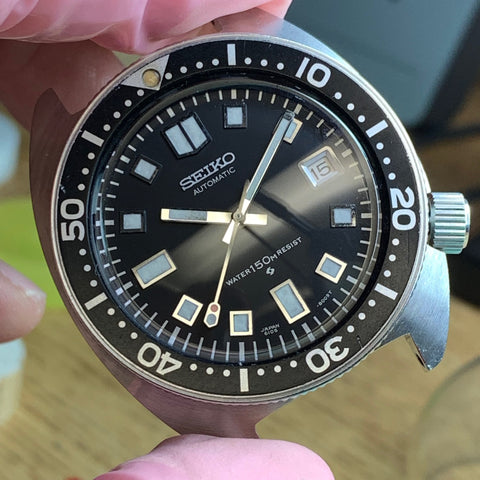 Servicing a vintage Seiko 6105-8000 diver - completed