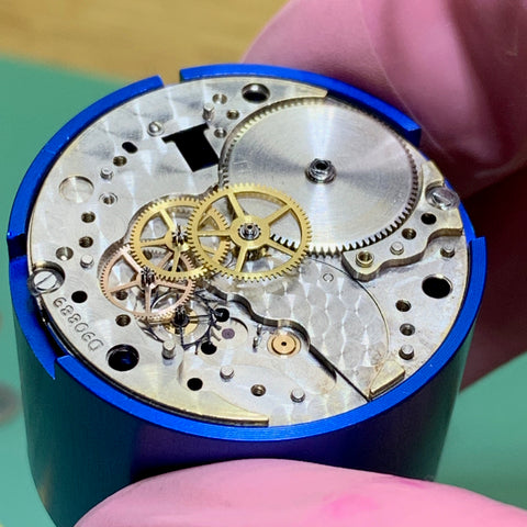 Servicing a Rolex 1601 Datejust Calibre 1560 from 1963 - reassembly