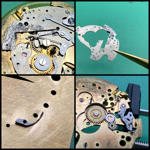 Servicing a 1940's Universal Geneve (UN) Calibre 481 Tri-Compax Triple Date Moonphase chronograph