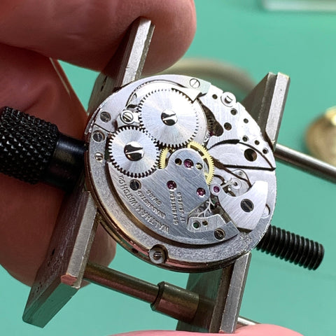 Servicing a 1950's Waltham Premier 65 AS 1580 family watch