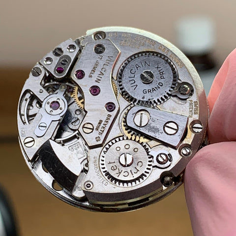 Servicing a Vulcain Cricket Calibre 120 Alarm watch from the 1950's