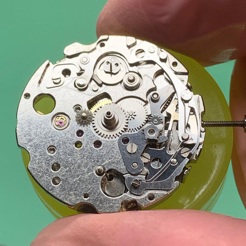 Servicing a brown dial beautiful Seiko 6138-0049 Bullhead vintage chronograph