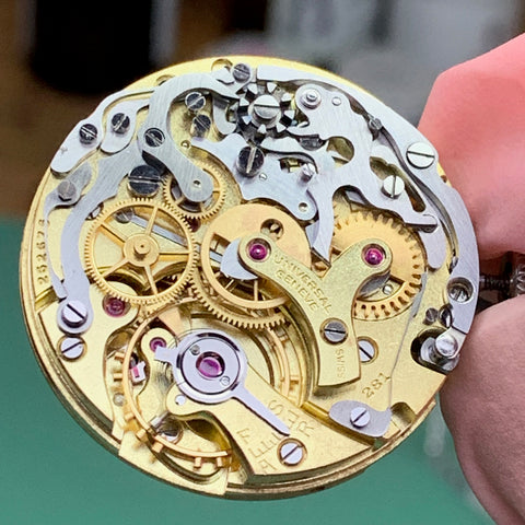 Servicing a beautiful 1945 Universal Geneve (UN) reference 22278 calibre 281 vintage chronograph - dealing with chronograph reset and overall operation