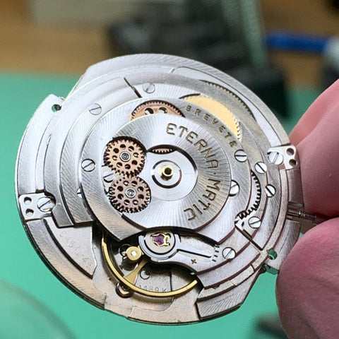 Servicing an Eterna Super Kontiki Calibre 1489K from the early 1960's