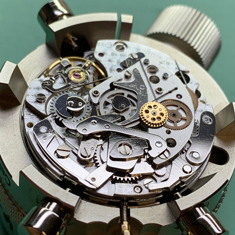 Servicing a Krieger Aficionado Moonphase Chronograph Valjoux 7751
