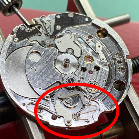 Servicing a King Seiko Hi-Beat 4502-7000 - Date Change Mechanism