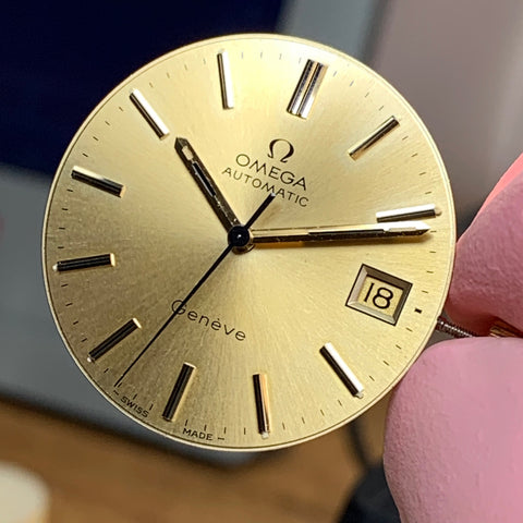Servicing a 1974 Omega Geneve reference 166.0163 calibre 1012