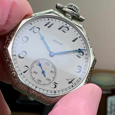 Servicing a family 1920's Elgin 12s Pocket Watch