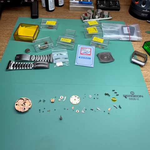 Servicing two 1970's Omega Megaquartz Calibre 1310 Reference 196.0016