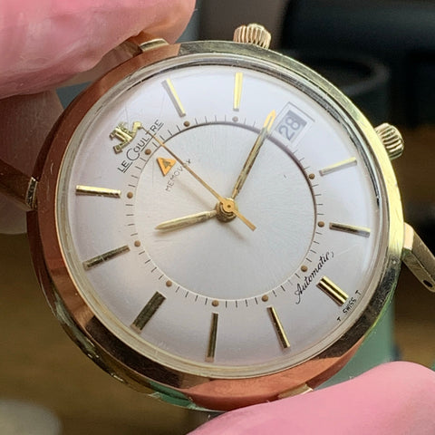 Servicing an early 1960's automatic LeCoultre Memovox Alarm Date calibre 825