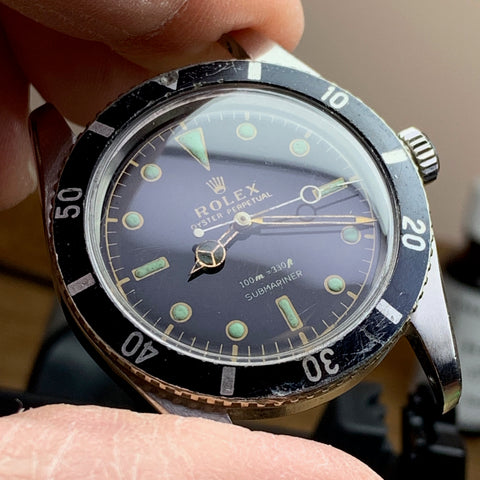 Servicing a vintage Rolex Submariner model 6536/1 calibre 1030 from 1957