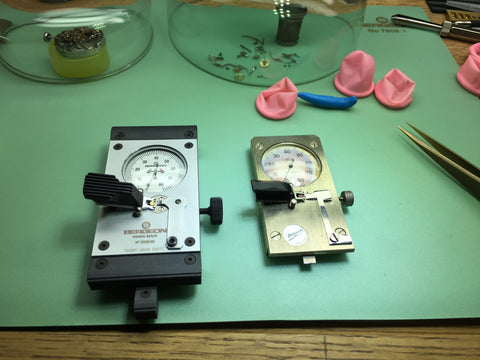 Adjusting the escapement and pallet stones in a vintage watch or modern watch