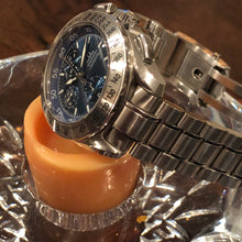 Sold: Omega Rattrapante Split Second Chronograph Ref 3540.80 Blue Dial with Box & Papers - ClockSavant