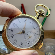 Hahn Landeron Quarter Repeater Chronograph Pocket Watch Circa 1885 - Fully Serviced by ClockSavant - ClockSavant