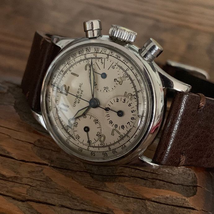 Upon Request Only - Universal Geneve Vintage Chronograph Reference 22278 Calibre 281 ~1942 - ClockSavant