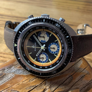 Upon Request Only - Baylor Valjoux 72 Vintage Chronograph Diver ~1960's - Fully Serviced by ClockSavant (Similar to Zodiac Sea Wolf) - ClockSavant