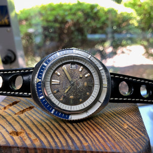 Sold - 1960's Squale Diver Watch 600M with Beautiful Tropical Dial & Felsa 4007N Automatic Date - ClockSavant