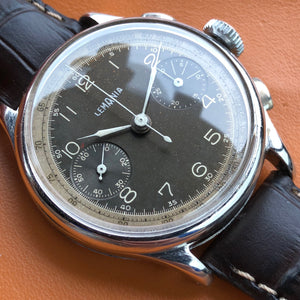 Sold - Lemania 15TL (Omega 33.3) 1940's Vintage Chronograph Fully Serviced by ClockSavant - ClockSavant