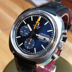 Tissot Navigator Lemania 5012 1970's Vintage Chronograph - Fully Serviced by ClockSavant - ClockSavant