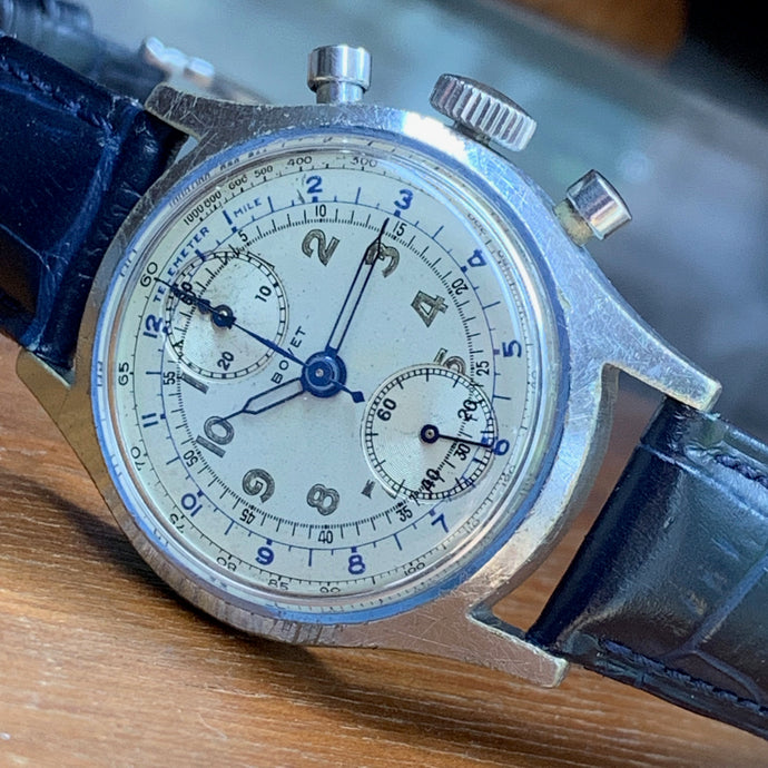 1940's Bovet Valjoux 77 Vintage Chronograph - ClockSavant Survivor - Fully Serviced by ClockSavant - ClockSavant