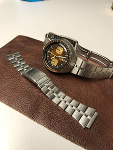 Sold - Seiko 6138-0049 Bullhead Chronograph Brown Dial Fully Serviced by ClockSavant - ClockSavant