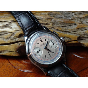 On-Hold - Lecoultre Vintage Chronograph with Universal Geneve Calibre 285 Circa 1945 - ClockSavant
