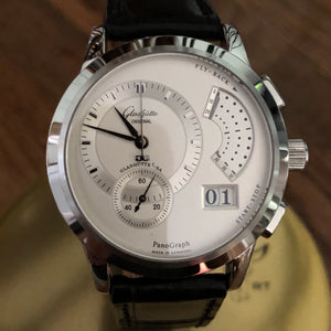 Sold - Glashutte Original (GO) PanoGraph Chronograph Stainless Steel with Boxes & Papers - ClockSavant