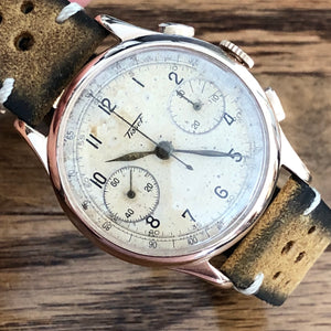 Tissot (Omega 33.3) Lemania 15TL 1940's Vintage Chronograph Fully Serviced by ClockSavant - ClockSavant