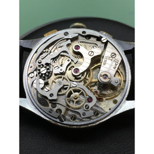 Accurist Vintage Chronograph Valjoux 22 Decorated Movement Stainless Steel - Fully Serviced by ClockSavant - ClockSavant