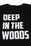 Deep in the Woods Long Body Tee - Black/White