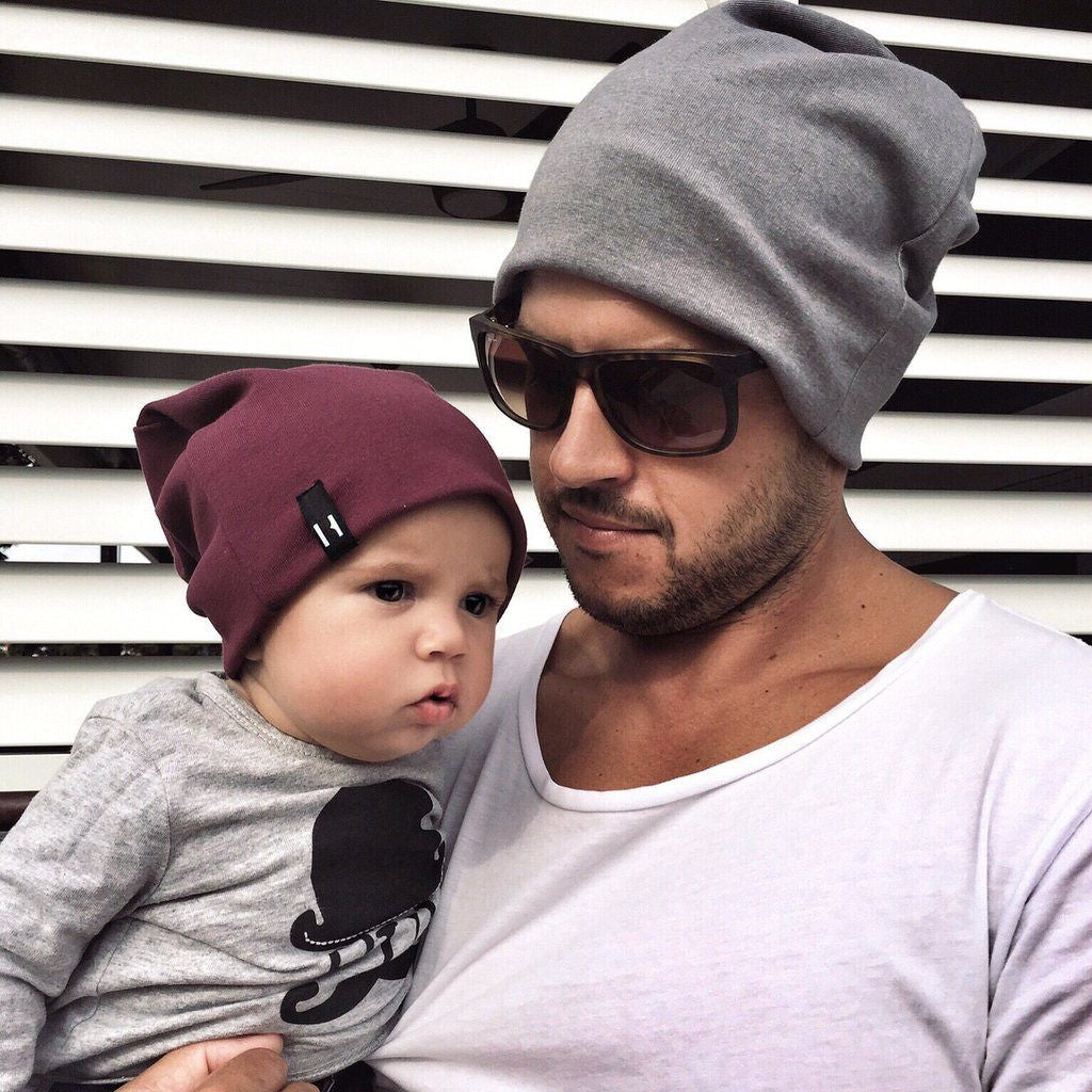 Daddy and me Beau Hudson slouchy beanies