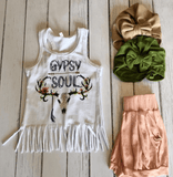gypsy soul fringe tank toddler outfit
