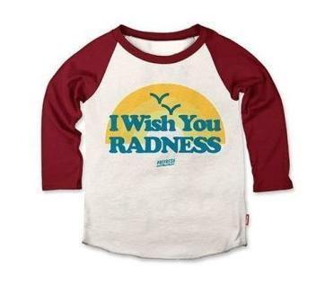Prefresh Wish You Radness Toddler Boys Raglan t shirt