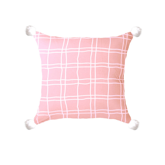 Stripe With Side Bushes Throw Pillow