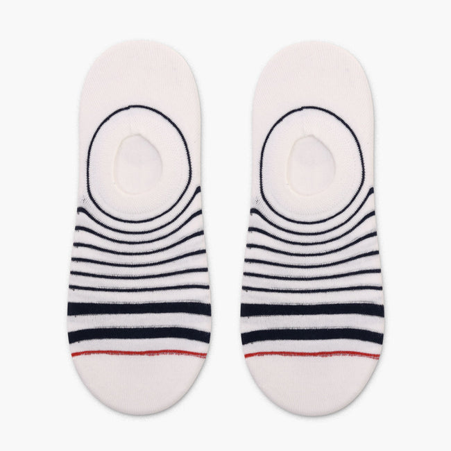 Navy Stripes Low Cut Crazy Socks
