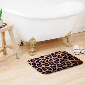 SuperSoft Leopard Door Mat