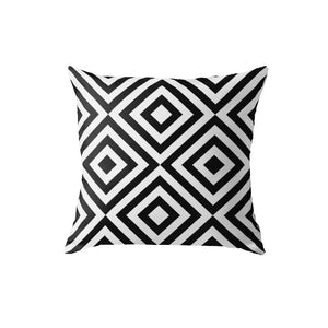 SuperSoft Geometric Black & White Line Pattern