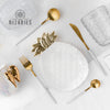 Matt Gold & White Cutlery Set