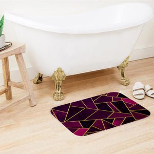 SuperSoft Purple Geometric Door Mat