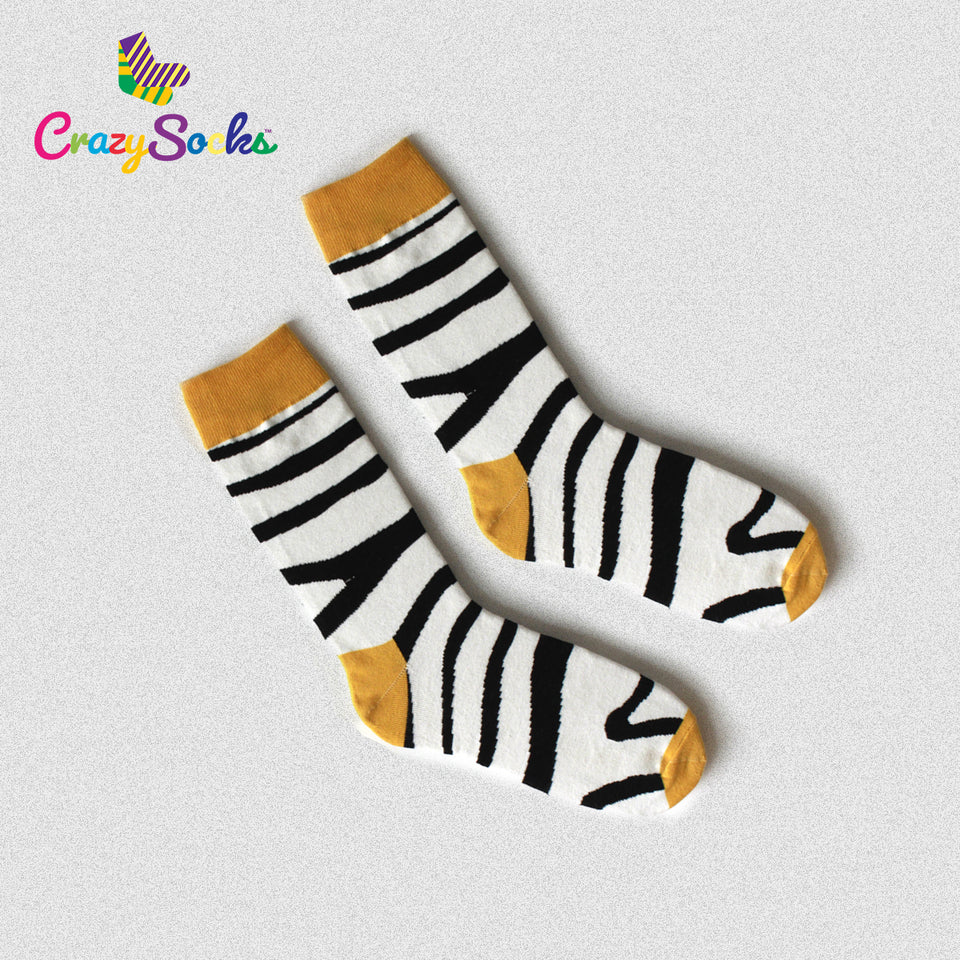 Zebra Design Crazy Socks