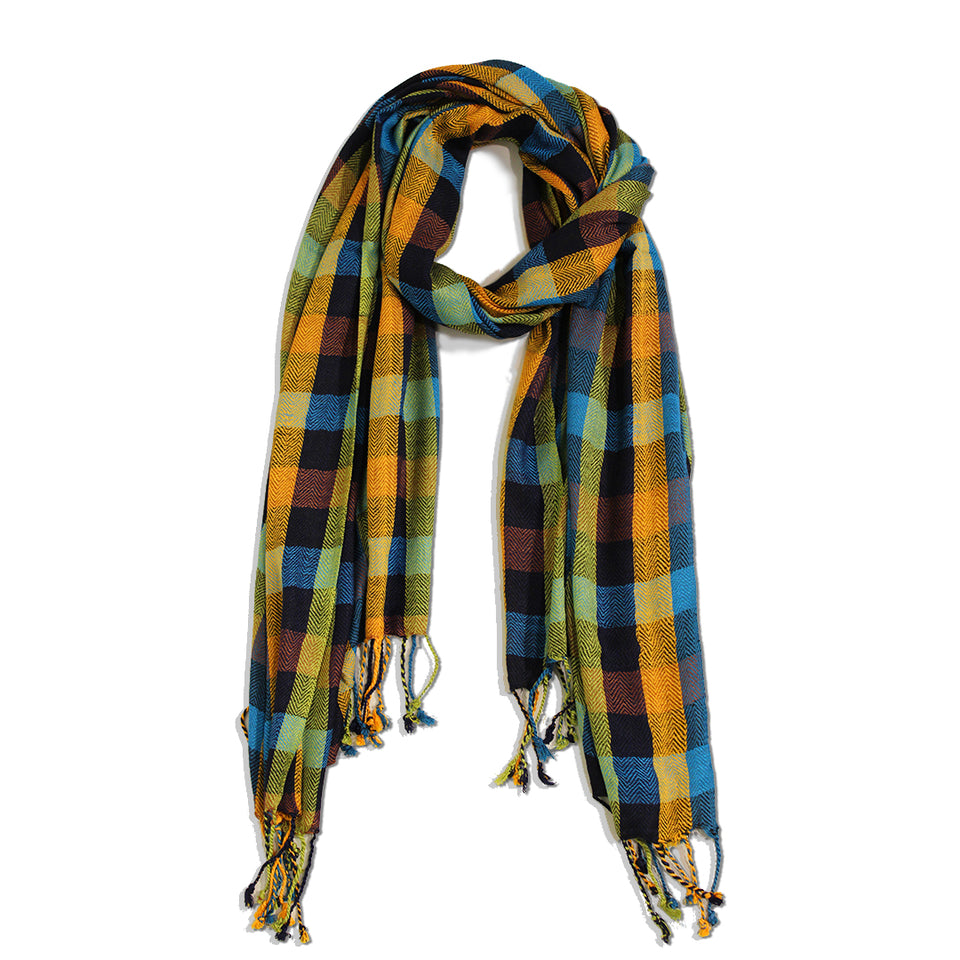 Small Boxes Jacquard Scarf
