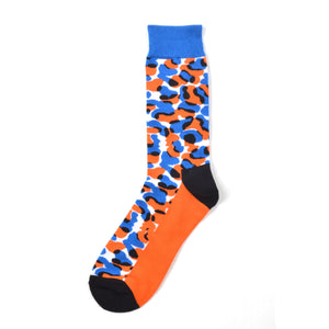 Orange Army Crazy Socks