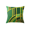 Canvas Art Deco Emerald Throw Pillow
