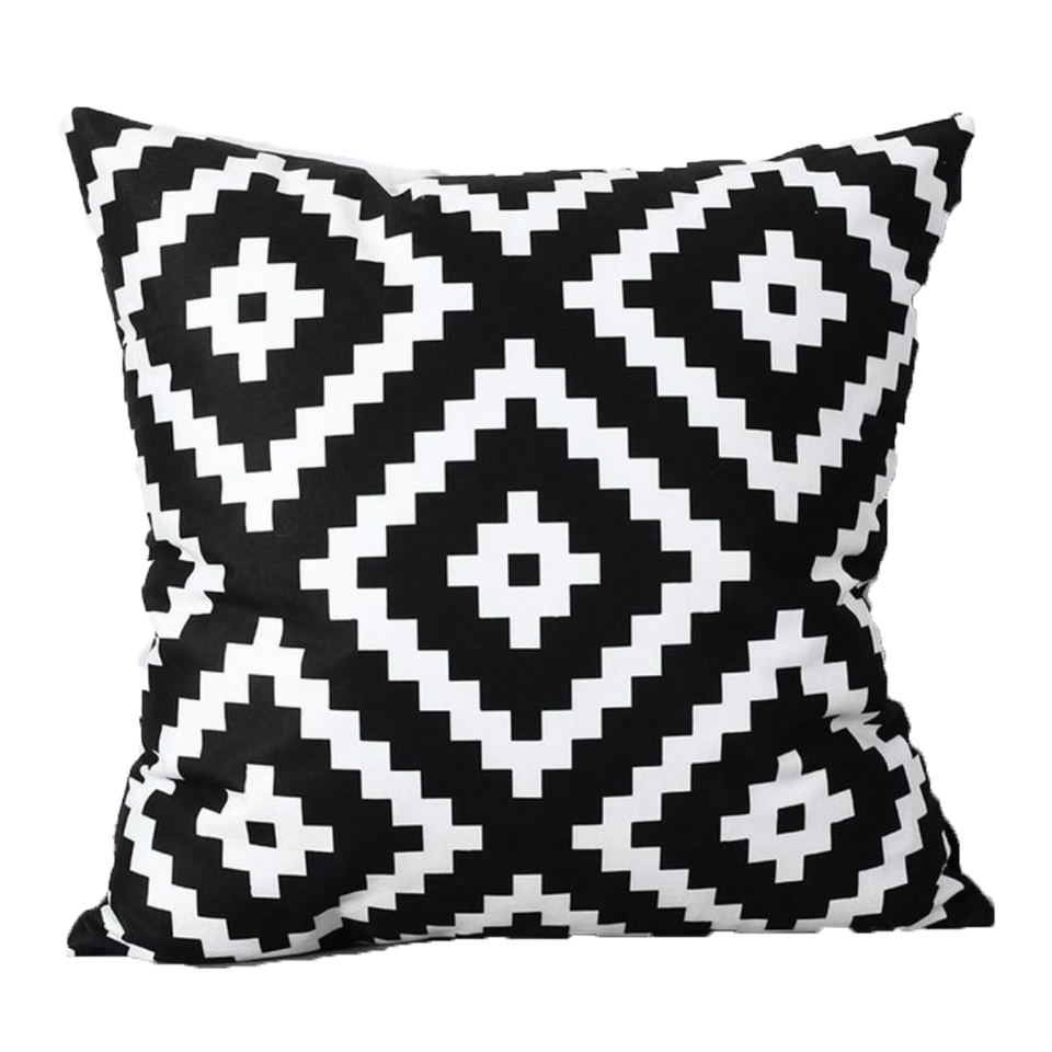 SuperSoft Black & White Abstract Geometric