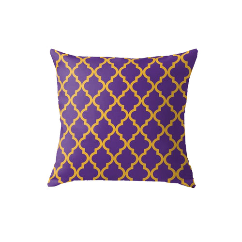 SuperSoft Moroccan Quatrefoil Purple