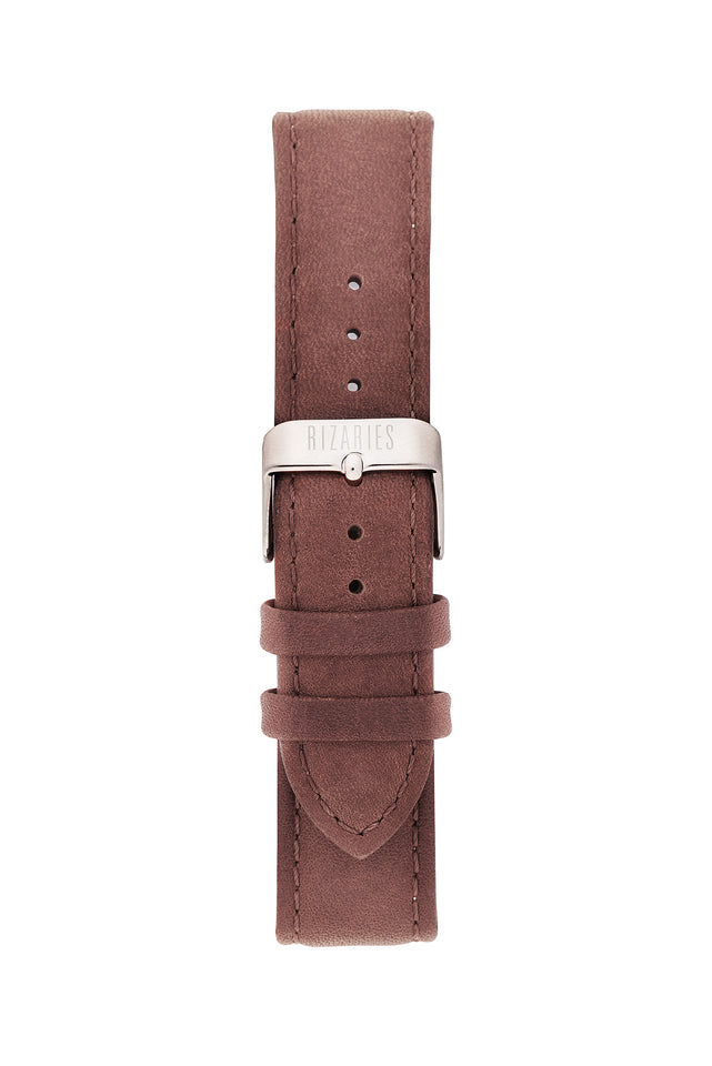 Roman Rose Gold | Brown Leather
