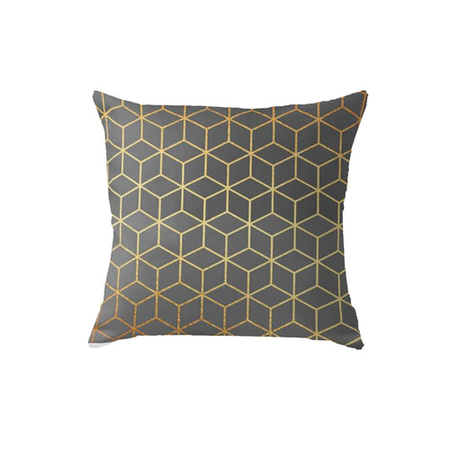 SuperSoft Grey Cubes Throw Pillow